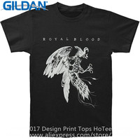 Cool Tees Crew Neck Design Short Sleeve Royal Blood Bird Mens T Shirts