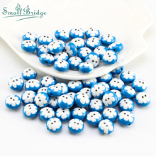 12mm Fimo Polymer Clay Beads for Beaded Jewelry Bracelet Necklace Making Earring Printing Flower Pattern Loose U106