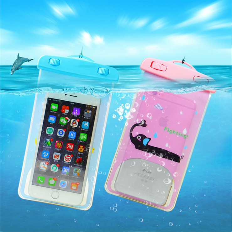 Відкритий спортивний мобільний телефон Водонепроникний мішок для підводного плавання Плавання Дайвінг Рафтинг Прозорий Підводний плавальний мішок
