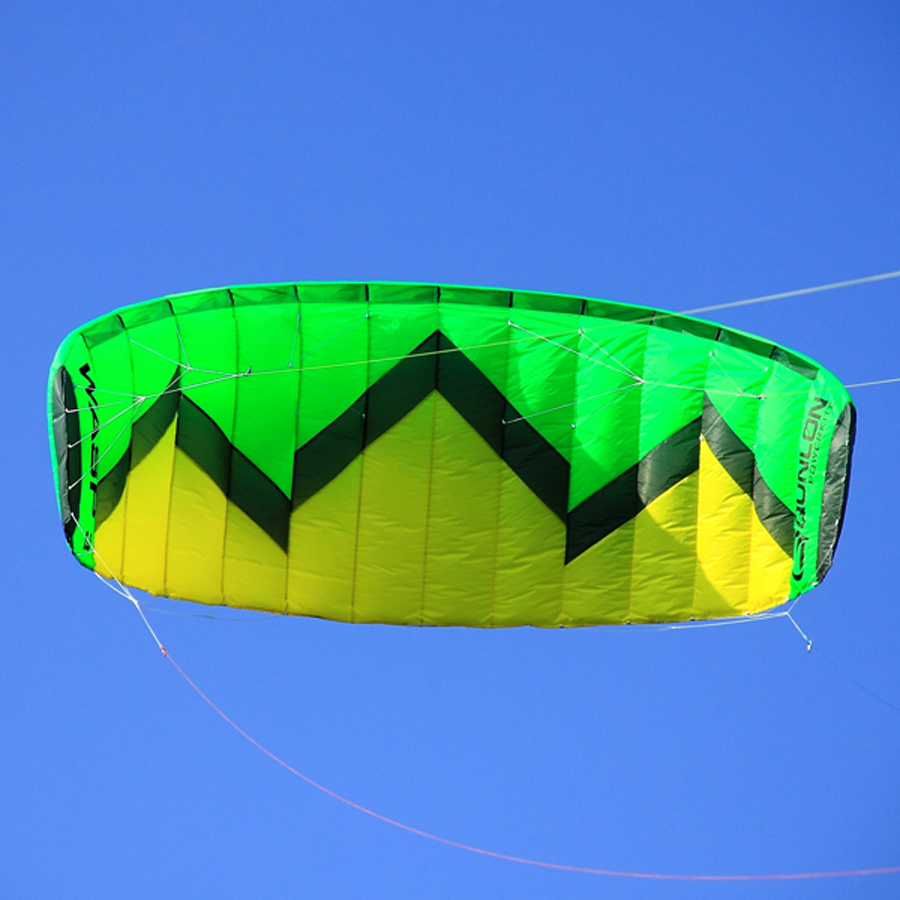 3 Sqm Quad Line Stunt Kite With Handle Kite Flying Line Power Kite Surfing Kiteboaring Trainer Kite 2 5m huge dual line control soft frameless stunt parafoil flying kite plaid cloth made with 2 line board and 2 x 40m line