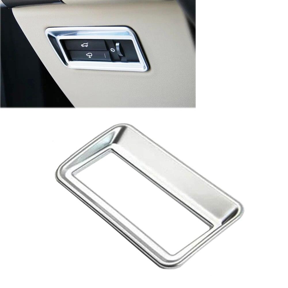 New Chrome Car Interior Rear Trunk Button Switch Panel Frame Cover Trim For Land Rover Range Rover Sport Evoque land rover windshield molding a pillar range r sport 05 13 rh oem new lr046846