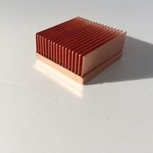 В Медь теплоотвод источника питания Процессор Медь радиатора DIY YL2511