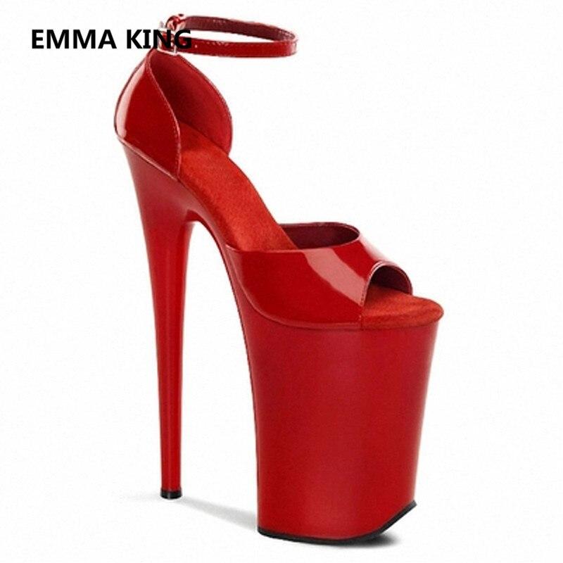 Haute Femme Cuir Chaussures 20 Shown Picture Pompe In Compensées Spartiates Mode Designer 2019 As Verni Semelles Picture Sandales Dames À Extrême En Cm Femmes Talon Sandale as VLpUjqzSMG