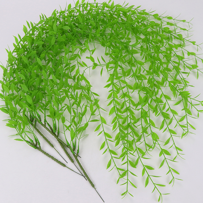 Festive & Party Supplies 52cm 7 Forks Grass Rattan Artificial Flower Simulation Plants For Home Garden Decoration Wedding Party Fake Leaves Decor Home & Garden
