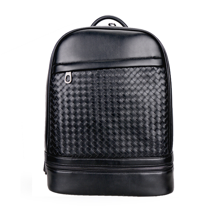 New Brand 100% Genuine Leather Men Backpacks Vintage Real Natural Leather Student Backpack Boy Luxury Weave Computer Laptop Bag цены