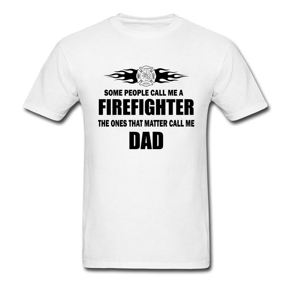 3f68a7213065 Men's Nice T Shirt Cotton Summer T-Shirts Father's Day Gift New York  Firefighter Dad Text Tshirt Quotes Slim Mens Cheaper Tees