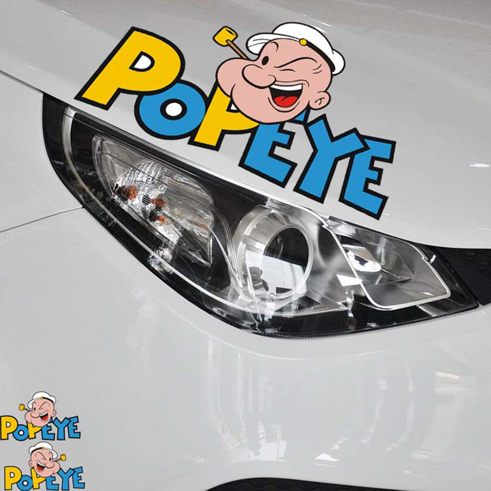 Aliauto 2 x Funny POPEYE car cover whole body car styling Decal for Toyota Ford Chevrolet Volkswagen Honda Hyundai Kia Lada