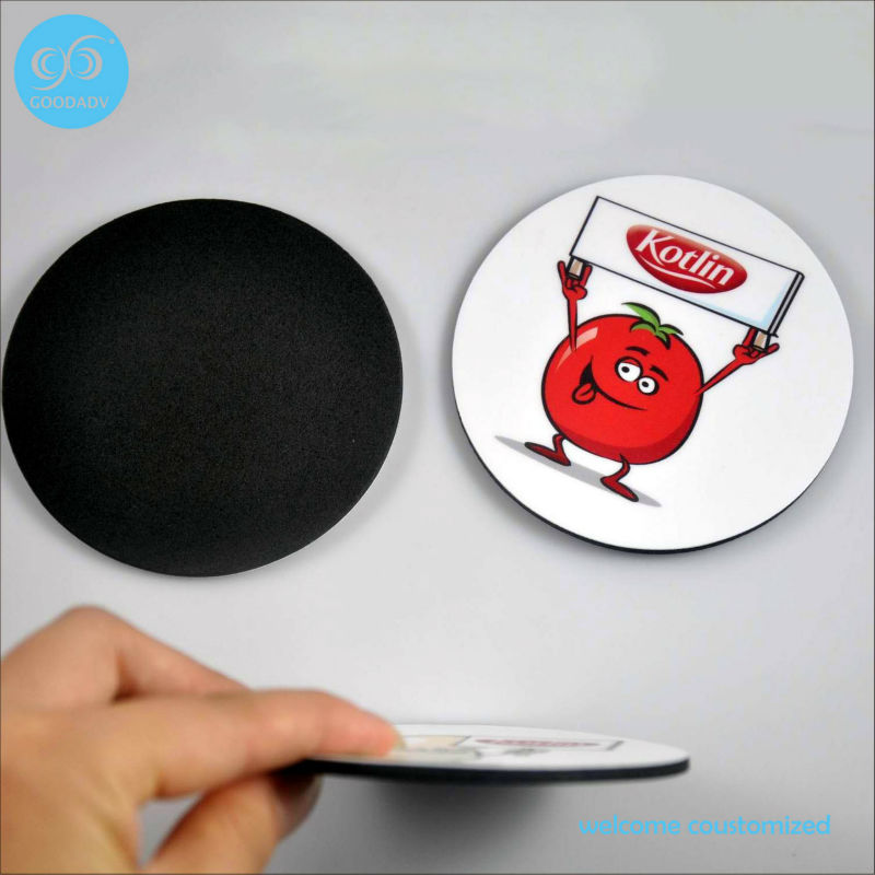 2018 hot sale 50pcs/set Round Shape EVA Coaster factory direct practically useful table decoration home coasters