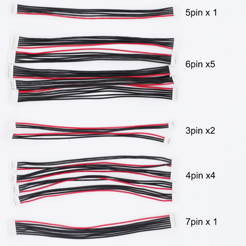 13PCS Pixhawk 2.4.8 PX4 Flight Control Cable 1.25mm 3P / 4P / 5P / 6P /7Pin 10cm Length 4Pin & 5Pin & 7Pin Debug Lines For PIX
