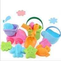 Beach Sand Play Toys Set Bucket Rakes Sand Wheel Watering Sand Play Bath Toys For Children