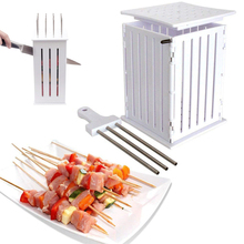 16/36 Hole Meat BBQ Barbecue Skewers Machine Easy Kebab Maker Box Multipurpose Quick Skewer Grill Accessories Tool