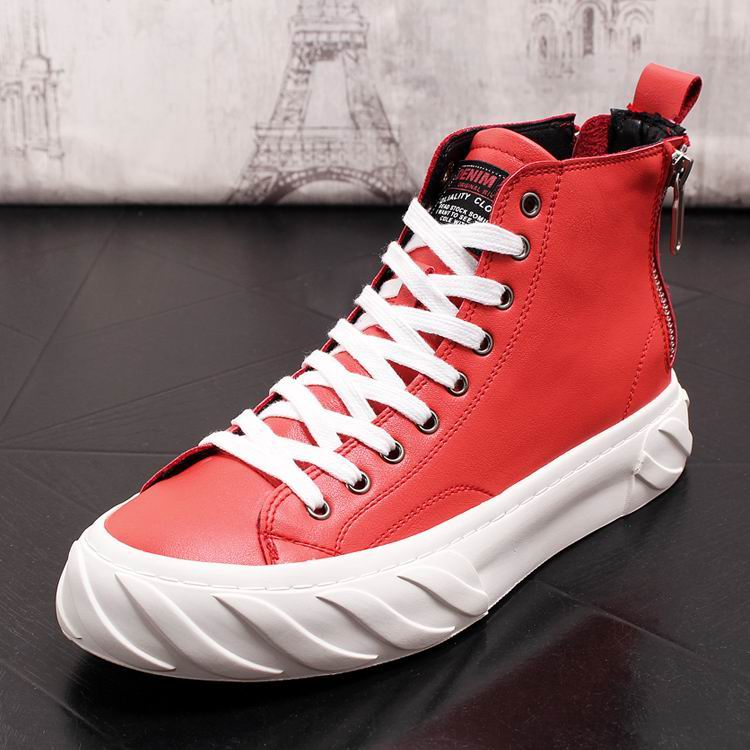 ERRFC Fall Winter Designer Shoes Men Red High Top Casual Comfort Man Shoes White Leisure Boots