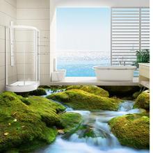 Пейзаж 3D комната обои пол 3D обои пол для гостиной водостойкая напольная Фреска живопись украшение дома