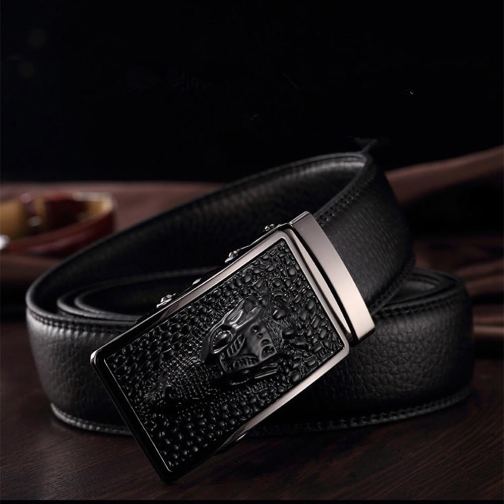 Hot Sale Men belts Luxury Genuine Leather Crocodile designer High Quality Automatic Belt Man Buckle Real Cowhide Jeans