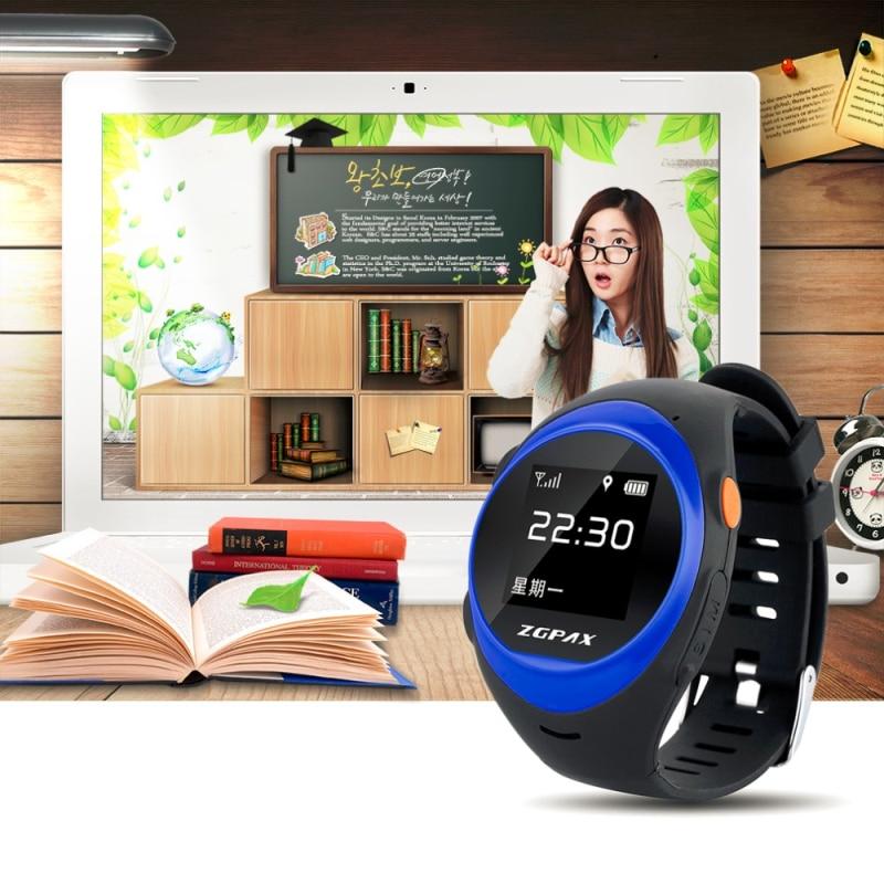 GPS ZGPAX Kid reloj inteligente S888 soporte SOS GPS WIFI Anti caída de alarma localizar remoto reloj inteligente S888 para Old man Kid regalo