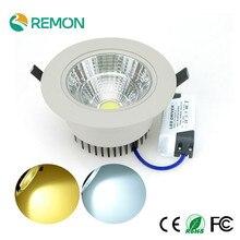 Dimmable LED Recessed Downlight COB 5W 10W 20W Epistar LED Spot Light Ceiling Lamp AC110V 220V Indoor Lighting LED Fixtures Bulb