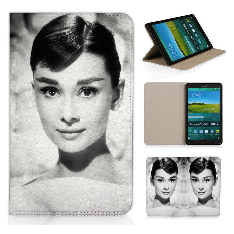 T700 Android Tablet Cover Retro Style Case For Samsung For Samsung Galaxy Tab S 8.4 T700 T705 Audrey Hepburn