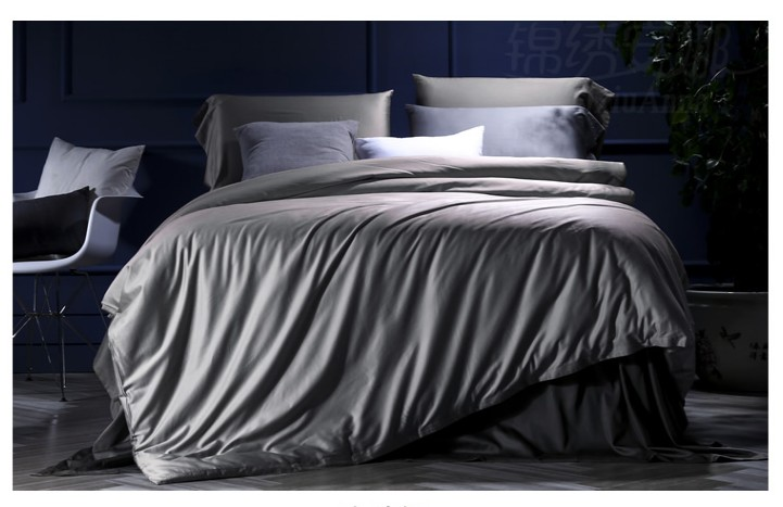 silver grey bedding set 100 egyptian cotton sheets bed in a bag sheet duvet cover - 100 Egyptian Cotton Sheets