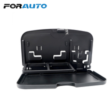 FORAUTO Car Back Seat Table Pallet Stand Desk Drink Cup Holder Auto Food Tray Folding Dining Table Universal Phone Tissue Holder