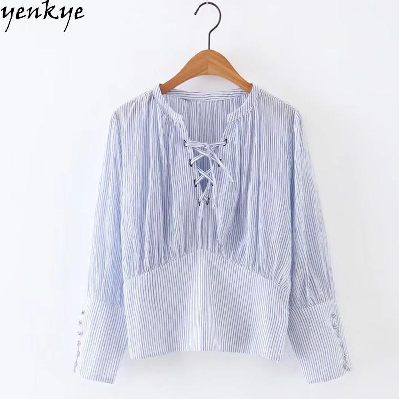 Summer tops 2017 light blue striped shirt women blouse for Plus size light blue shirt