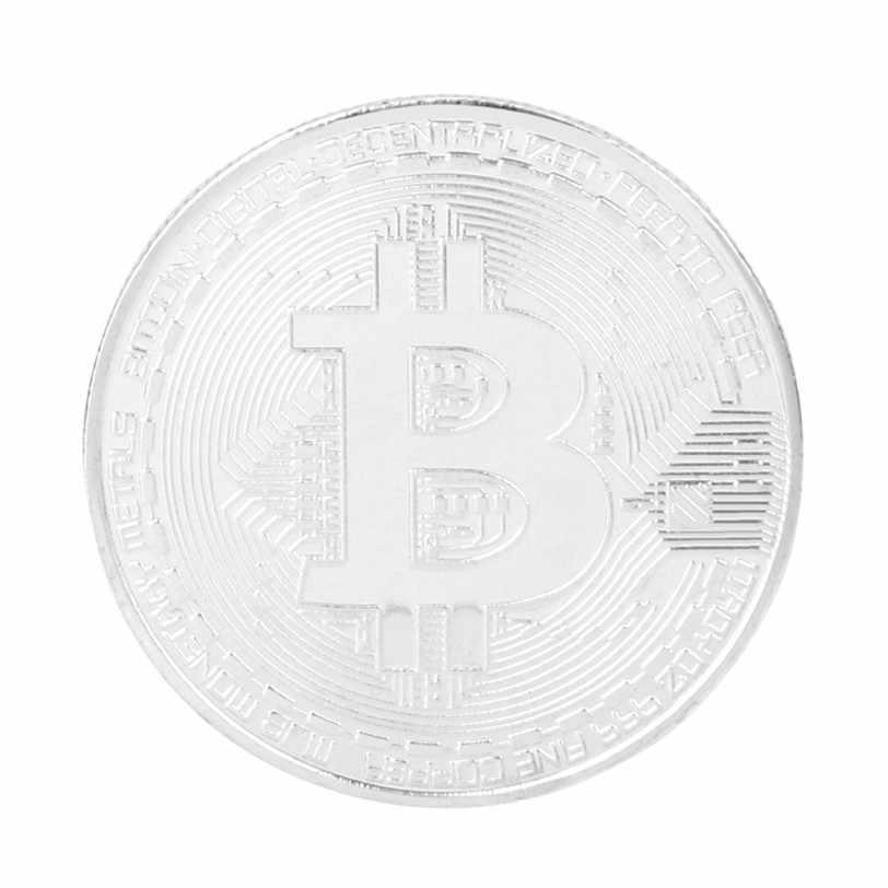 Mạ bạc Bitcoin 50 Đồng Tặng Casascius Bit Đồng Xu BTC Đồng Bộ Sưu Tập Nghệ Thuật Vật Lý tiền kim loại kỷ niệm