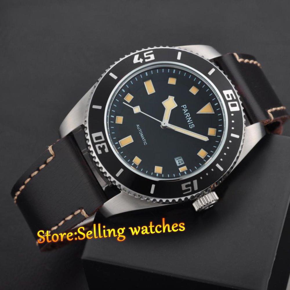 43mm Parnis Japan MIYOTA 821A Sapphire Glass Men Automatic Movement Watch