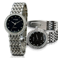S2SQURE New products lovers watches classic three needle drill face steel strip high grade commercial fashion watches
