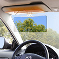 1PC Universal ABS + PC Lens Car Sun Visor Anti-Glare Blocker UV Fold Flip Down HD Clear View Visor Accessories