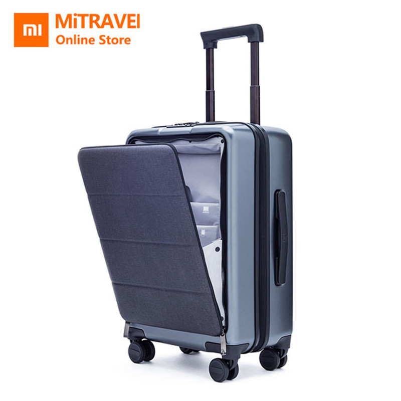 Xiaomi maleta de viaje de negocios 20 pulgadas cabina de apertura con maleta Universal rueda mujeres hombres maleta ligera impermeable