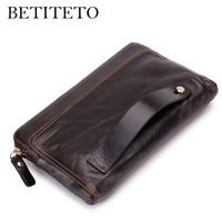 Betiteto Brand Genuine Leather Men Wallet Male Coin Purse Handy Vallet Carteras Money Bag Clutch Kashelek Portomonee Partmone