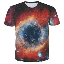 Fashion Brand Men/Women T-shirt Summer Tops Tees Shirt Print Stars Black Hole Space Galaxy Tshirts Slim Clothing Plus S-6XL R97