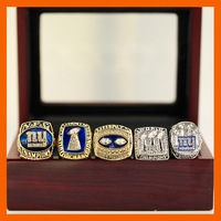 1986 1990 2000 2007 2011 NEW YORK GIANTS NEW DESIGN CHAMPIONSHIP RING 5 PCS RING WITH