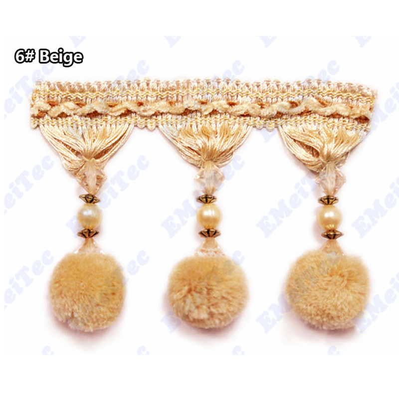 ball fringe curtains. aliexpress.com : buy luxury large ball fringe curtains 11cm decorative tassels for black/purple fabric trimming lace pompon cortina encaje from
