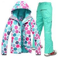 Free Shipping 2016 Gsou Snow 10K 10K Waterproof Snow Sports Clothing Snowboarding Jacket Women Warm Cotton