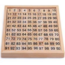 Монтессори образование деревянные игрушки 1-100 цифра когнитивный математическая Игрушка Обучение логарифм версия малыш Раннее Обучение подарок