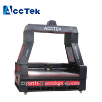 High precision auto feed CNC co2 laser cutting machine with CCD camera engraving cutter leather , fabric clothes for sale