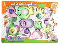 9 PCS Mixed In Box Baby Rattles Teether Set Early Development Toys 0 12 Months