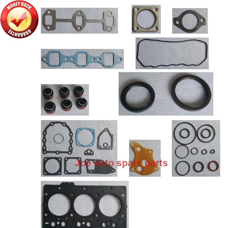 Kit de jeu de joints complets de moteur pour moteur Yanmar: 3D78 3TNE78 3TN78Kit de jeu de joints complets de moteur pour moteur Yanmar: 3D78 3TNE78 3TN78