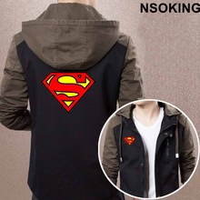 2017 New Spring Autumn Superman Man of Steel Hoodie Anime Cool Coat Men zipper Jacket Sweatshirt