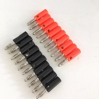 50pairs 4mm Adapter Wire Cable Audio Speaker Banana Plugs Connector Black +Red