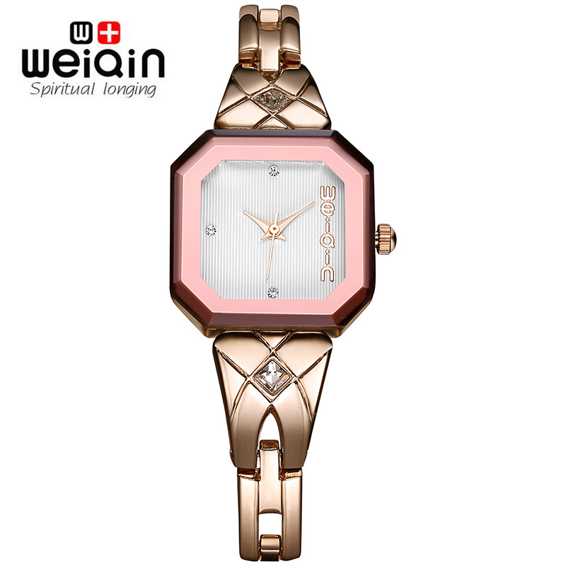 WEIQIN 2017 Arrival Famous Brand Bling Watch Women Luxury Austrian Crystals Watch Rose Gold Shinning Rhinestone Bangle Bracelet new arrival famous bs brand bling diamond bracelet silver watch women luxury austrian crystal big watch rhinestone charm bangle