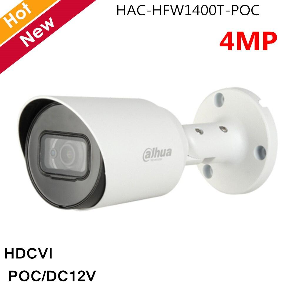 Dahua POC caméra 4MP HAC-HFW1400T-POC HDCVI caméra intelligente IR 30 mètres prise en charge POC DC12V 3.6mm objectif par défaut caméra de sécurité