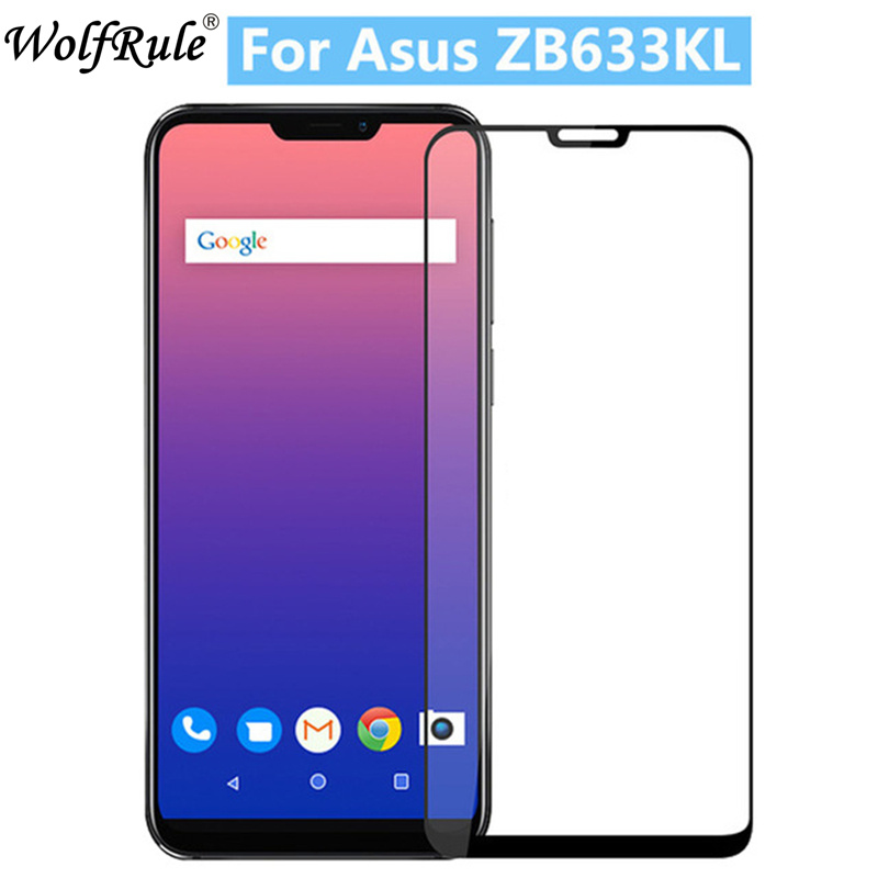2PCS Full Glue Cover Glass For Asus Zenfone Max M2 ZB633KL Tempered Glass Asus_X01AD Screen Protector Zenfone Max Pro M2 ZB631KL