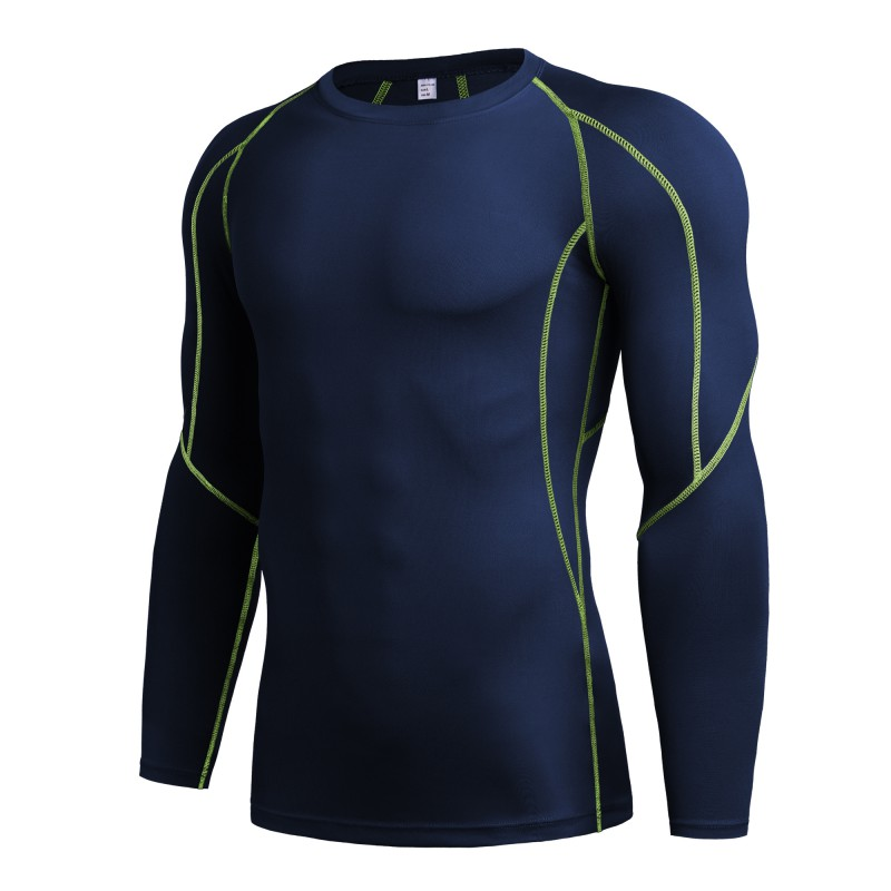 T-Shirts Fitness-Clothing Compression Long-Sleeve Men Tights Exercises Quick-Drying Riding-Workout
