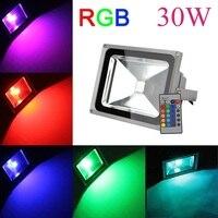 Toptan 30 W RGB Led Spot Peyzaj Duvar Yıkama Lambaları AC85-265V IP65 Açık Dekoratif Aydınlatma 8 Adet/grup Ücretsiz kargo