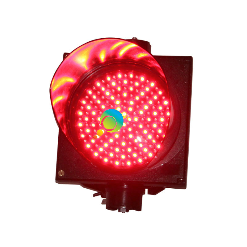 Easy Installation High Brightness Red LED Light Single 200mm PC Housing  Traffic Signal Light