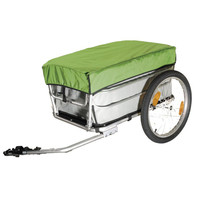 20 Inch Bike Cargo Luggage Trailer With Rain Cover, Aluminium Alloy Frame Bicycle Trailer, Luggage Cart, Mountain Bike Trailer