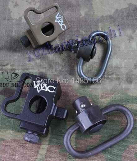 Цена за VAC стиль QD Quick release push стержня слинг поворотный кронштейн fit 20 мм ris ras rail BK/DE бесплатная доставка