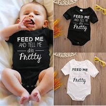 Newborn Infant Kids Baby Boy Girl Cotton Bodysuit roupas Jumpsuit baby summer letter print Bodysuit Outfit Clothes