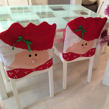 A Pair Lovely Mr & Mrs Santa Claus Christmas Dining Room Chair Cover Home Party Decor ornaments enfeites de natal papai noel